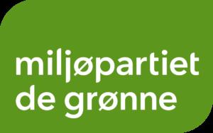 Miljøpartiet De Grønnes logo med partinavn